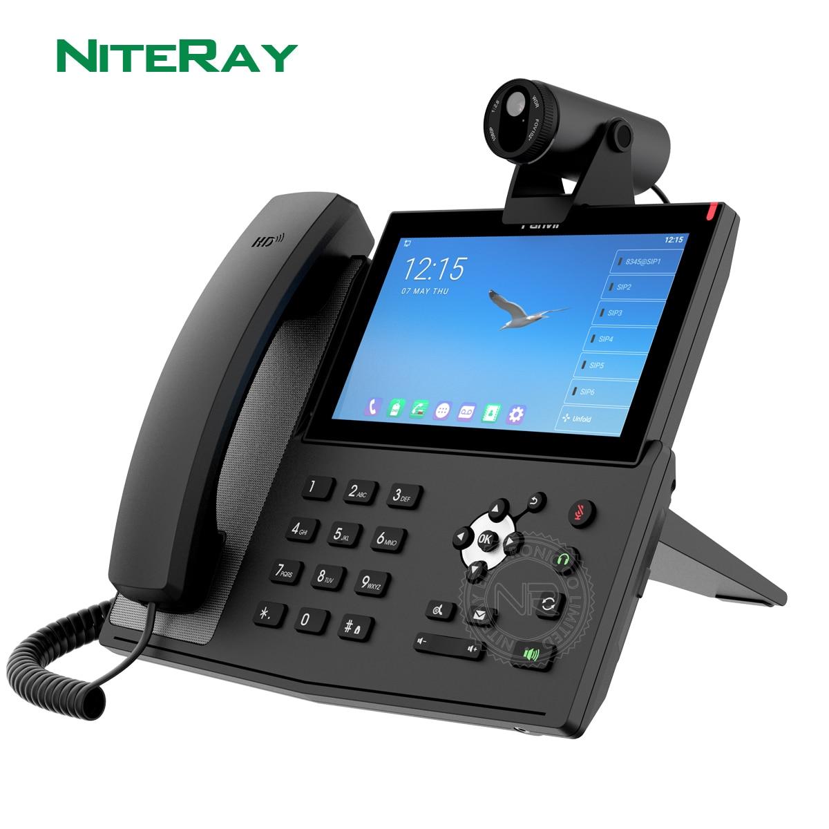 فانفيل الهاتف عبر بروتوكول الإنترنت X7A أندرويد فيديو 6 خطوط رشفة اتصال لاسلكي واي فاي