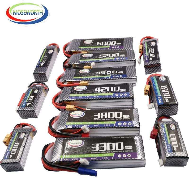 Rc Lipo Batterij 3S 11.1V 1300 1800 2200 2600 3500 4200 5200 6000 10000 12000 22000Mah Voor rc Drone Vliegtuig Auto Quadcopter Boot