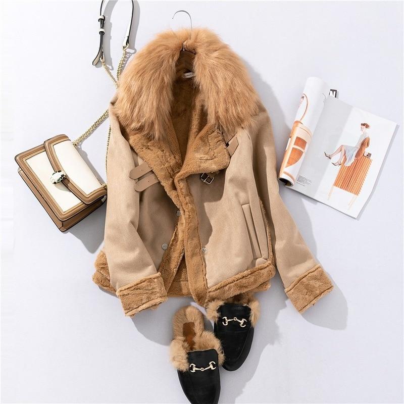Chaqueta Vintage de piel sintética de ante para Mujer, ropa de otoño...
