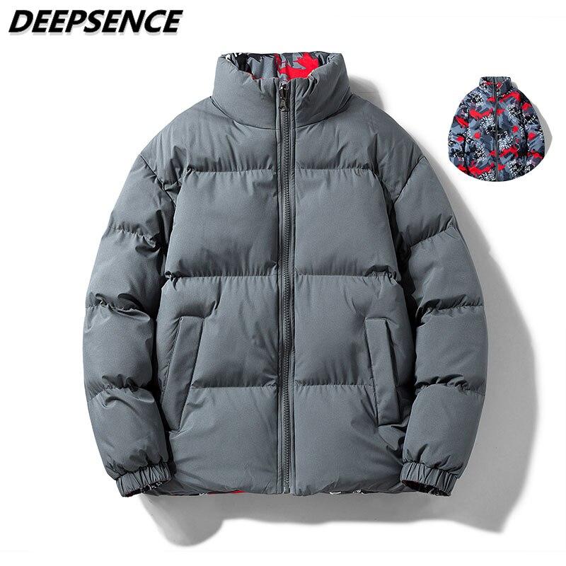 Men Women Parkas Jacket Autumn Winter Fashion Cotton Clothes Men Windproof Thick Warm Casual Double