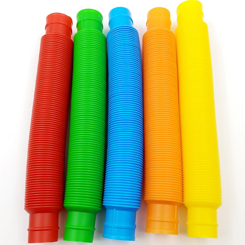 5Pcs Mini Pop Tubes Sensory Toy for Adult Fidget Stress Relieve Toys Kid Autism Anti Stress Plastic Bellows Children Squeeze Toy enlarge