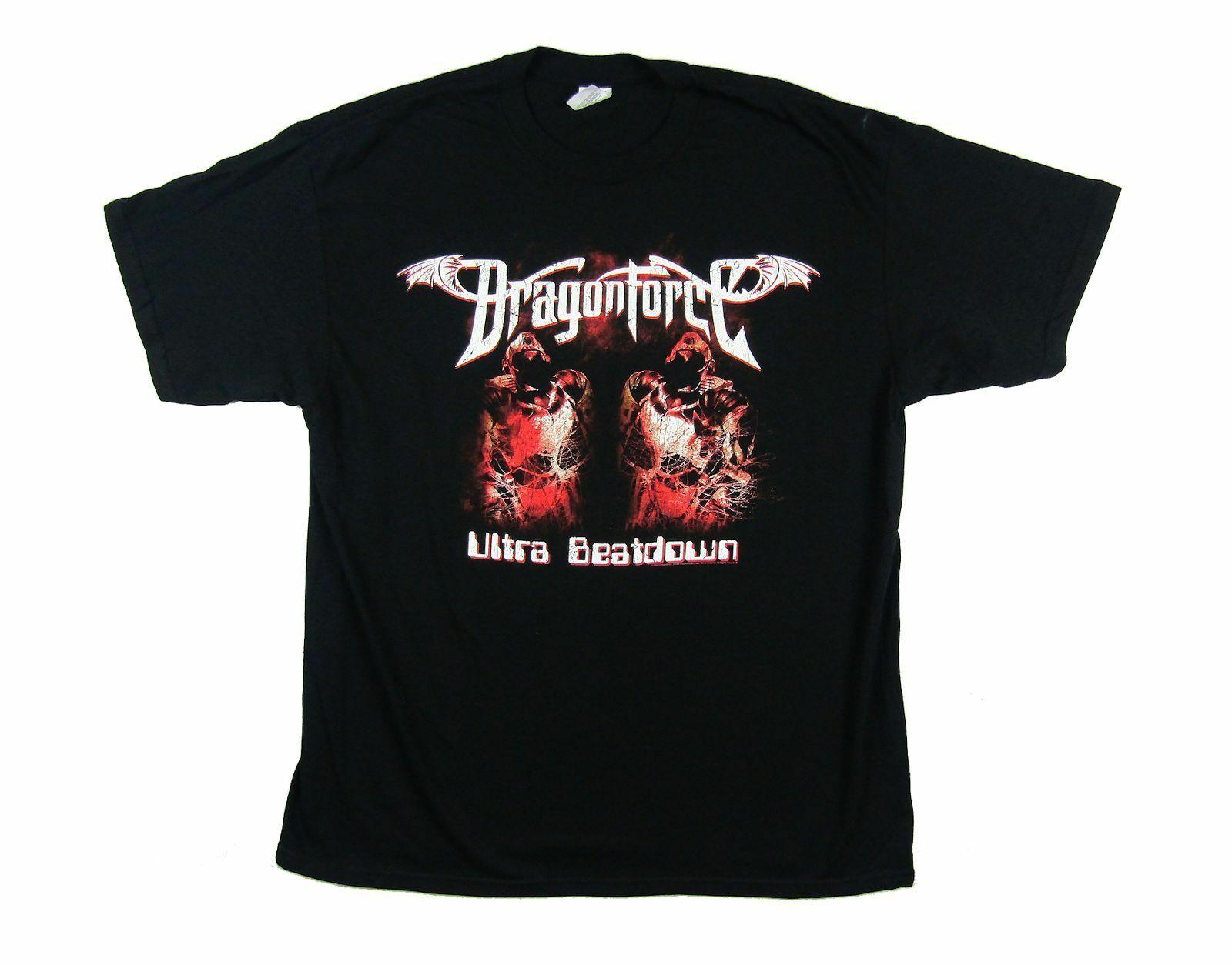 Dragonforce Ultra Beatdown Black T Shirt New Official Band Merch