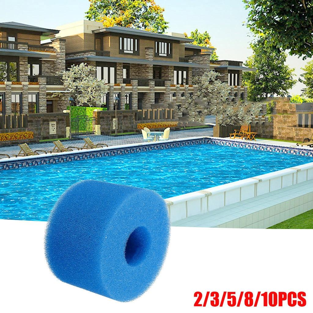 Piscina filtro de espuma intex s1 tipo casa limpa esponjas cartucho espuma reutilizável lavável adequado bolha jetted piscina filtro