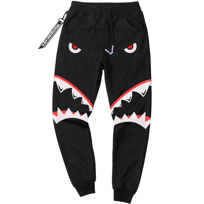 New Trousers Sweatpants Hot Sale Cotton Full Length Lightweight Terry Elastic Waist Pattern Pants Men Printed 2019 Military