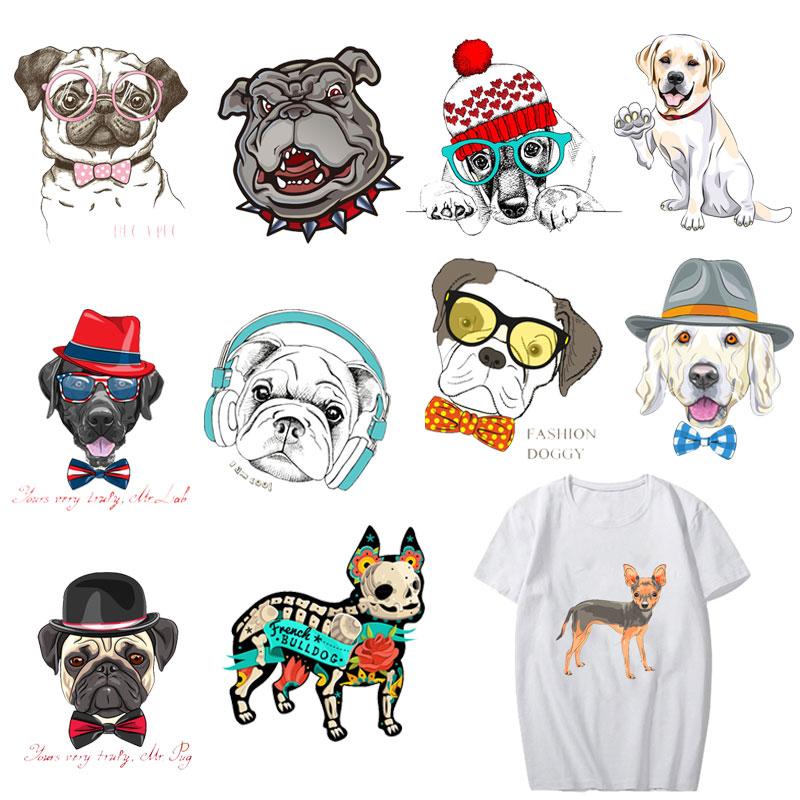 Transferencia de hierro 3D perros planchado por transferencia de calor pegatinas camiseta parches térmicos lavable calcomanía DIY accesorios apliques personalizados D