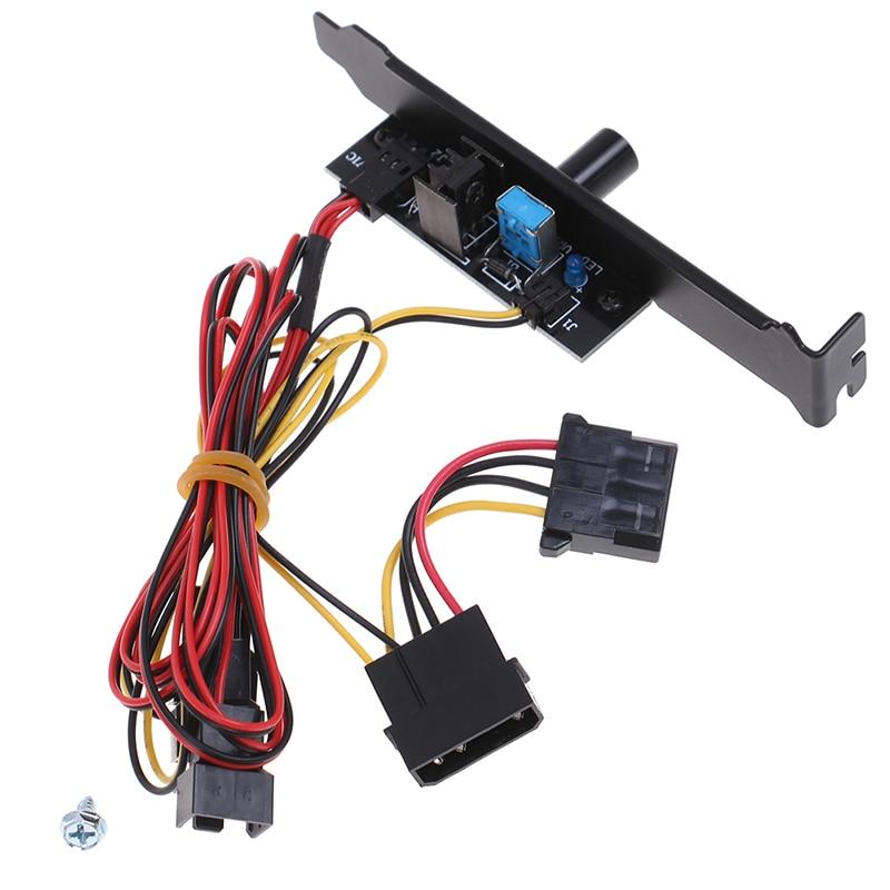 3-канальный кулер для ПК, контроллер скорости охлаждающего вентилятора для процессора, чехол, HDD, VGA вентилятор