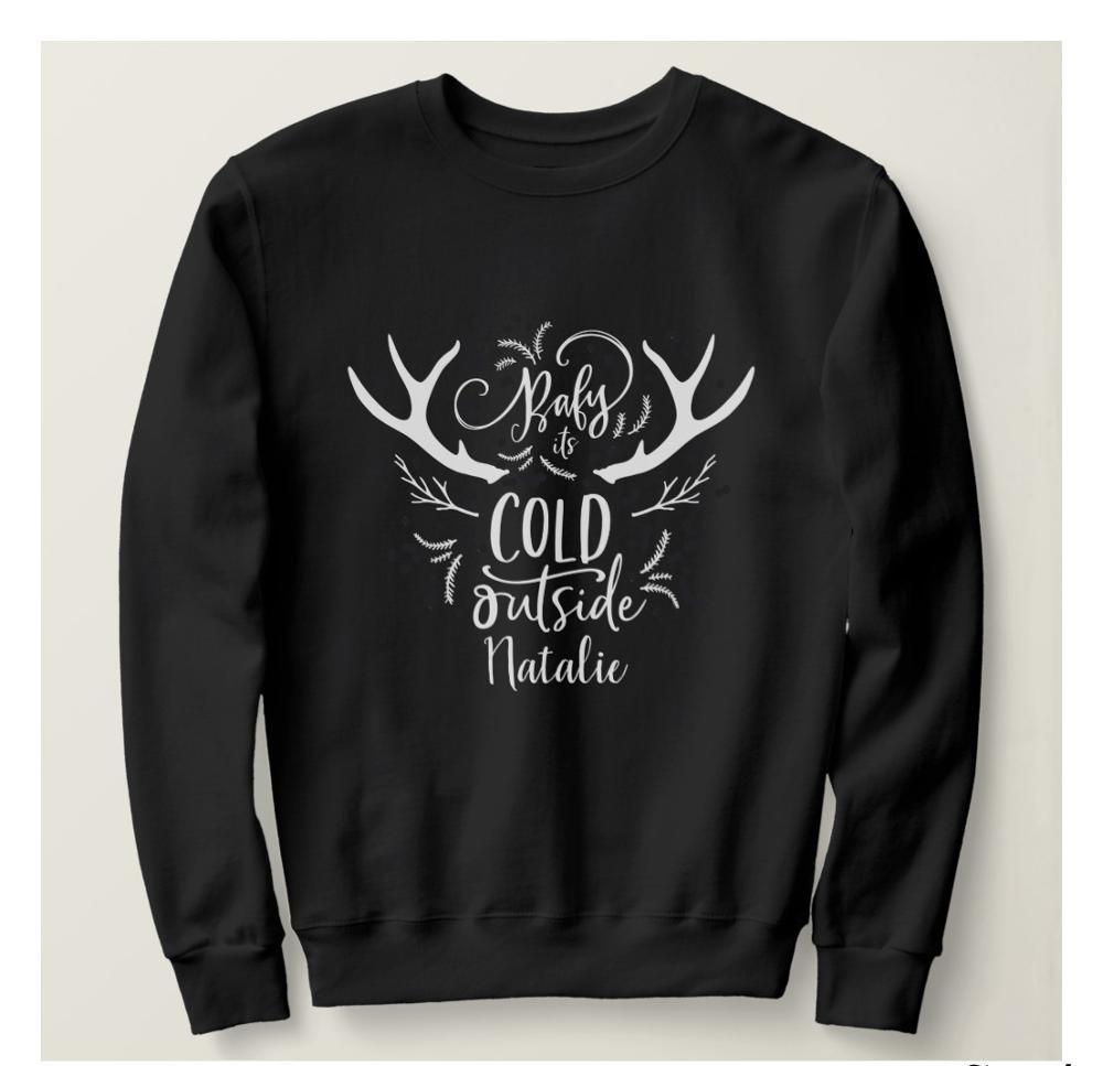 Kawaii Baby Its Cold Outside Fashion Christmas Women Sweatshirt 100%cotton O Neck Pullover Full Long Sleeve Harajuku cute Shirt