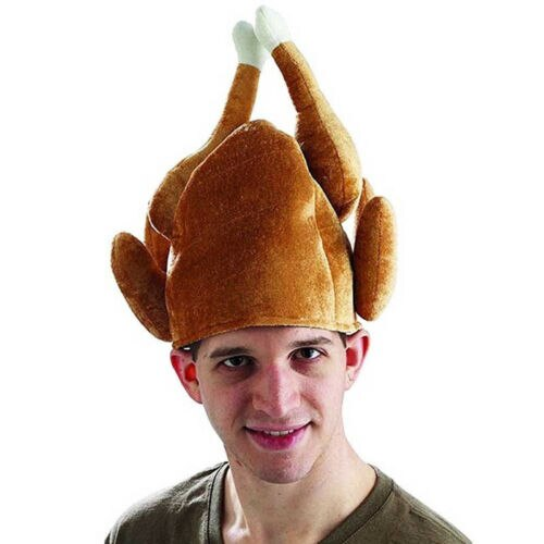 Жареная шапка «индейка», костюм на День Благодарения, жареная курица, сырая птица, шеф-повар