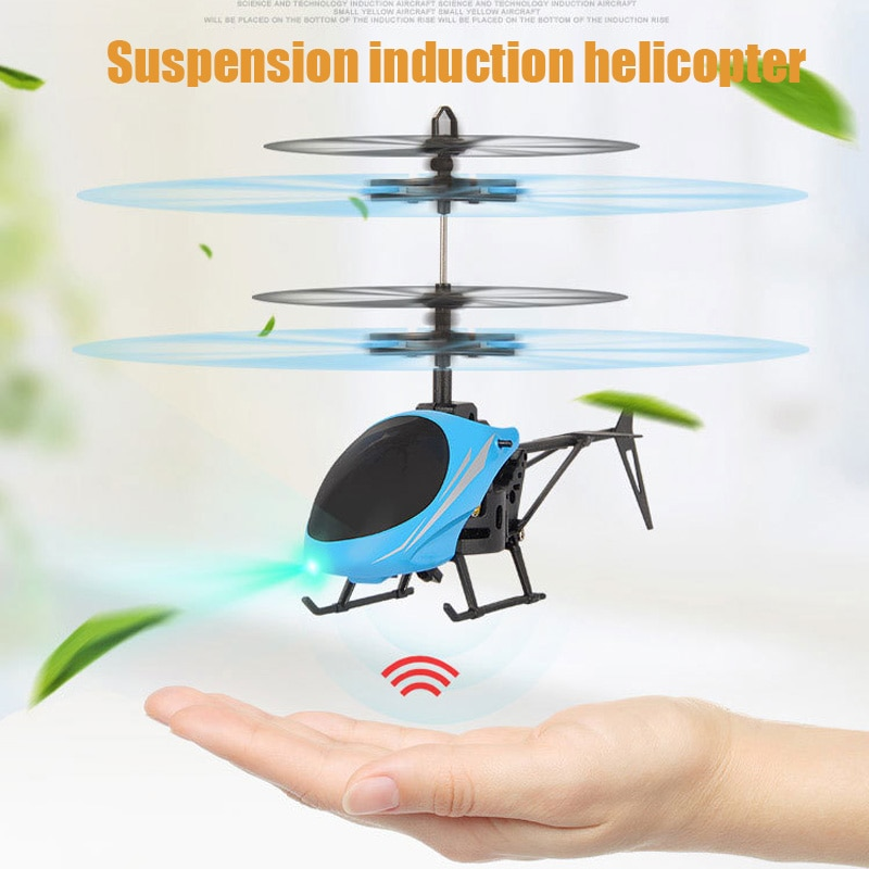 Kids Mini RC Drone Fly RC Helicopter Aircraft with LED Light Suspension Induction Helicopter Toy Rem