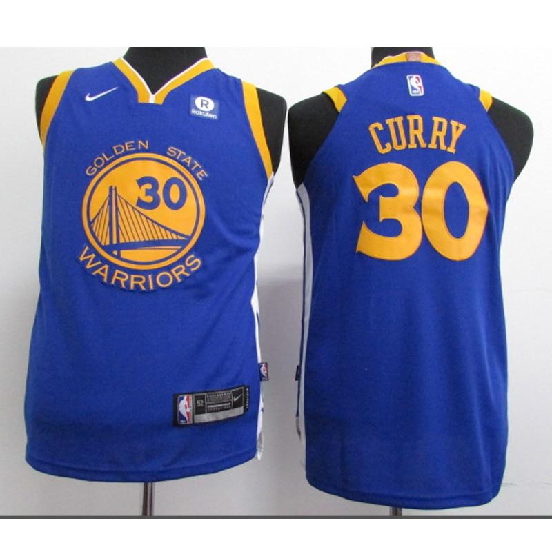 Camiseta de baloncesto de la NBA de los jóvenes Guerreros de oro...