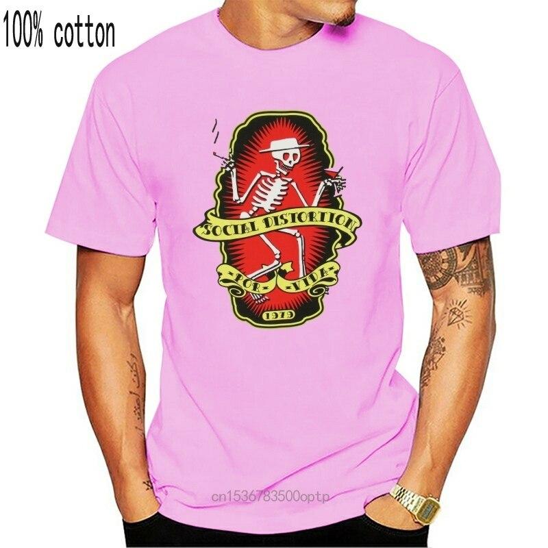 Social Verzerrung Por Vida Weiß T Shirt Neue Erwachsene Mike Ness Stilvolle Individuelle T Shirt