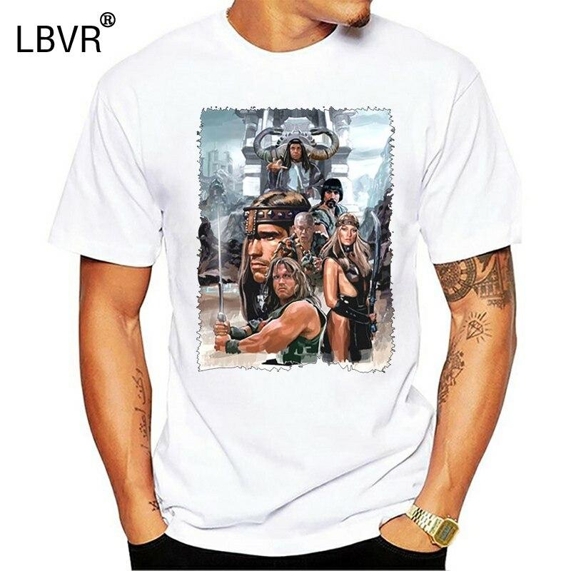 Conan футболка с изображением Варвара V1 Zink черно-белый коричневый постер из фильма все размеры подарок Повседневная футболка