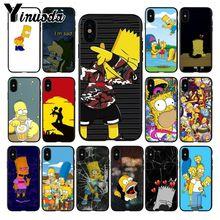 Carcasa suave de silicona con dibujo impreso DIY de The Simpson para iphone X, XS, MAX, 8, 7plus, 5S, SE, 6s, XR, 11pro max