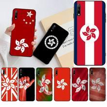CUTEWANAN China Hong Kong Flag Banner Customer High Quality Phone Case for Huawei Honor 20 10 9 8 8x 8c 9x 7c 7a  Lite view pro