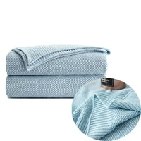 saim soft warm blanket cotton thread blanket for baby adult twin size knitted throw bed sofa car home blankets 30 x 40 inches