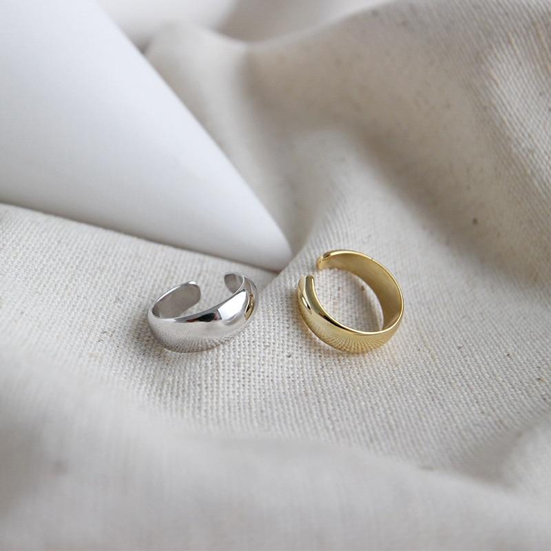 Женские серьги-Клипсы из 100% стерлингового серебра 925 пробы, серьги-манжеты, простой золотистый зажим, без пирсинга, ювелирные изделия
