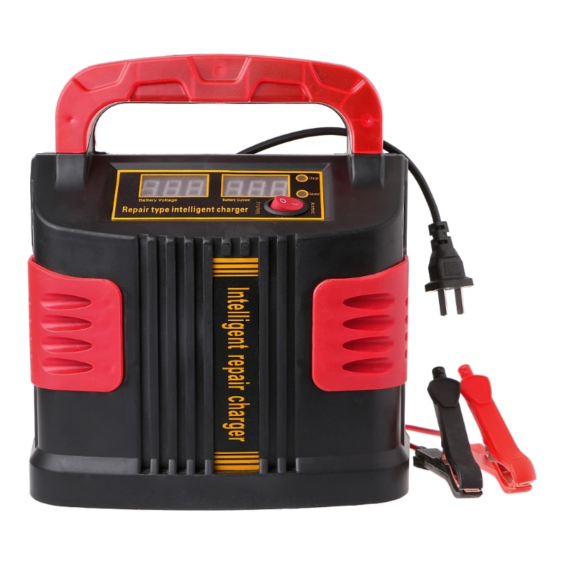 2021 New 350W 14A AUTO Plus Adjust LCD Battery Charger 12V-24V Car Jump Starter Portable