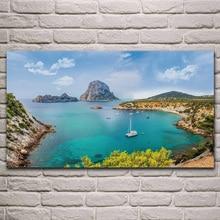 Spain ibiza seascape sea nature landscape fabric poster living room home wall decorative canvas silk art print KJ755