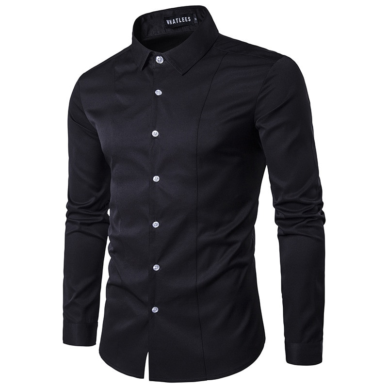 Рубашки мужские хлопковые, официальная одежда, модная повседневная одежда в Корейском стиле, топы с длинным рукавом и графическим принтом, ...