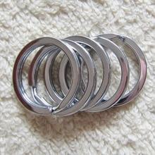 10pcs/pack Chaveiro Flat Stainless Steel Key Ring 20MM 25MM 28MM Keychain Key Holder for Women Men Jewelry Making Key Chain