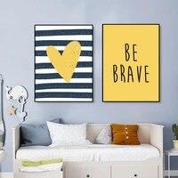 Toile de decoration minimaliste en forme de coeur pour chambre denfant  peinture de dessin anime  affiche dart mural  images pour chambre denfant  decoration de la maison