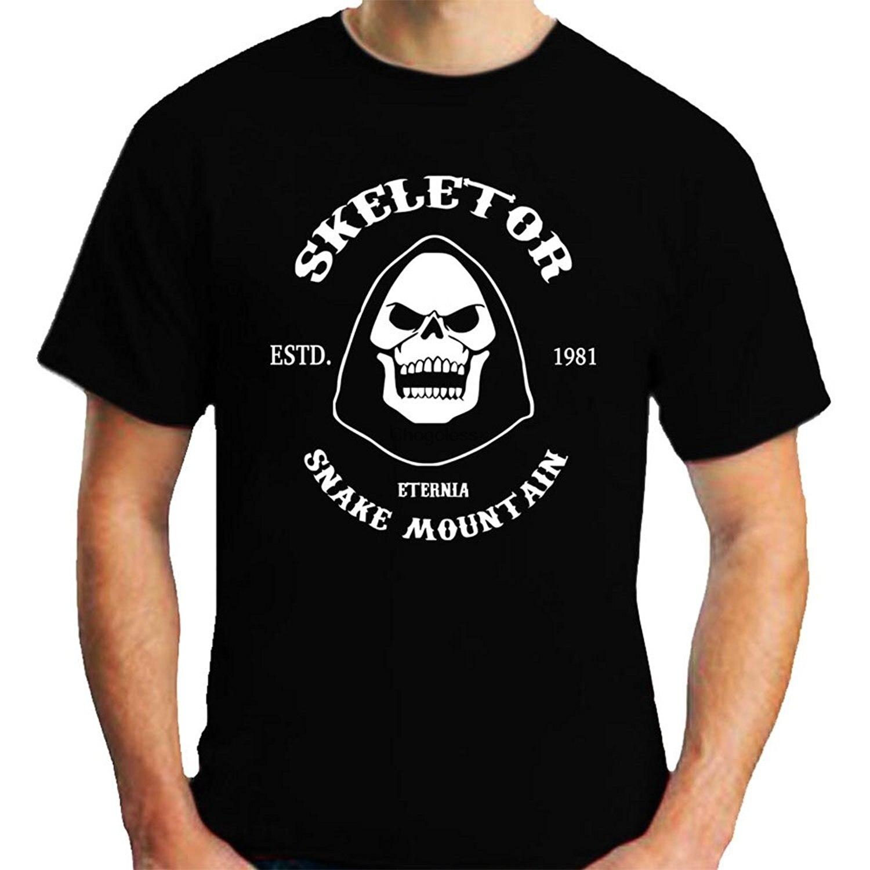 Skeletor Camiseta de manga corta negra hombre