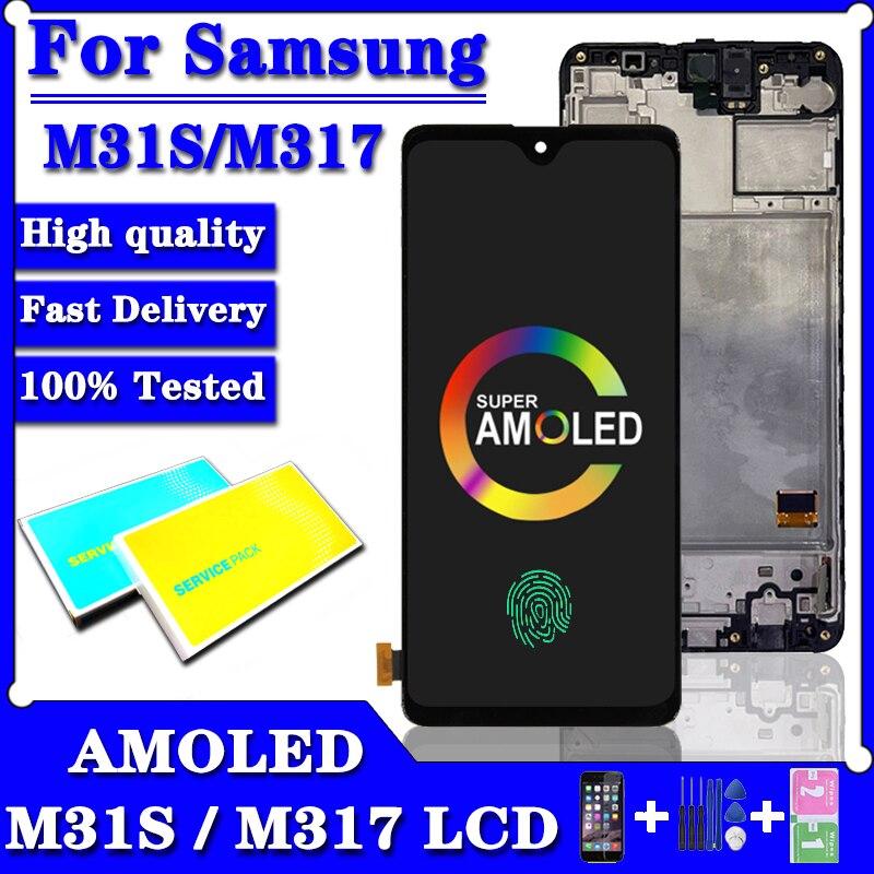 سوبر AMOLED لسامسونج غالاكسي M31S M317 Lcd عرض تعمل باللمس محول الأرقام الجمعية أجزاء لسامسونج M317F شاشة العرض