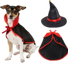 Halloween Pet Dog Shawl Cap Holiday Pet Hat Cap and Shawl Set Decor Pet Supplies