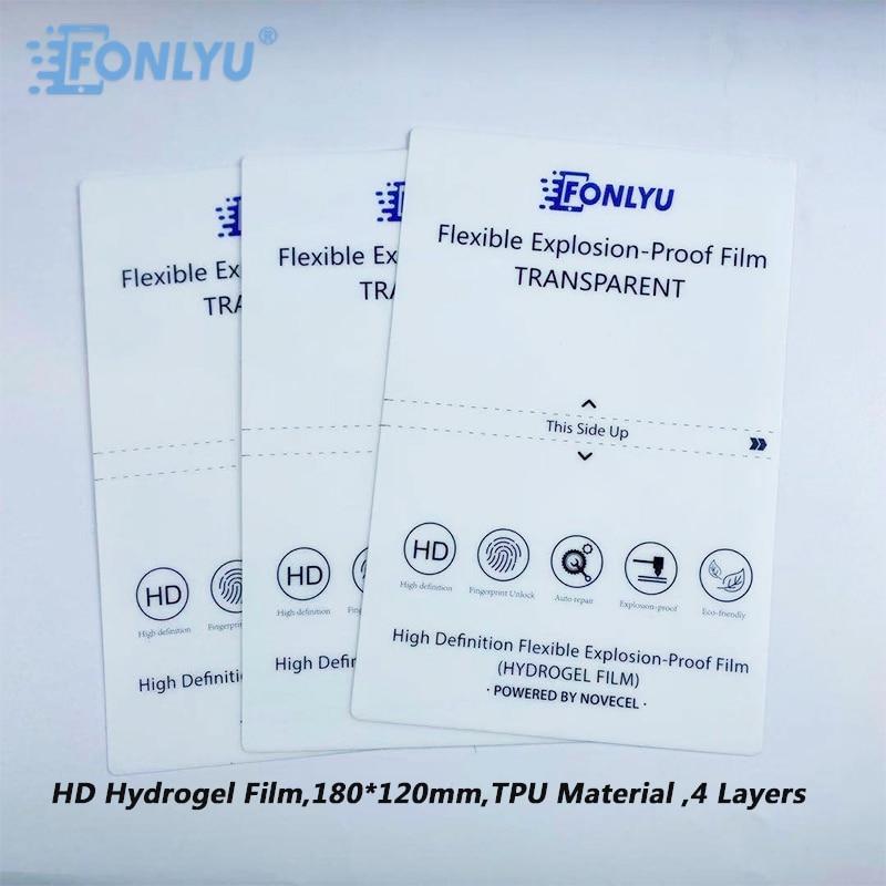 FONLYU 50 قطعة/الوحدة HD شفاف هيدروجيل فيلم ل شاومي آيفون 11 الهاتف الخليوي هيدروليك راسمة فيلم قطع آلة إصلاح أدوات