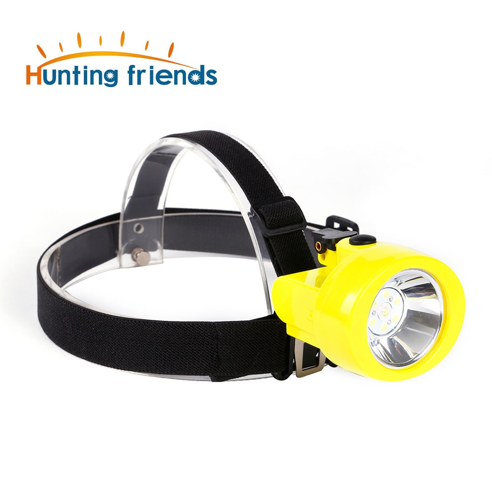 100pcs Hunting Friends Safety Mining Lamp Rechargeable Headlamp Miners LED Coon Hunting Lights KL2.8LM Waterproof Camping Lights