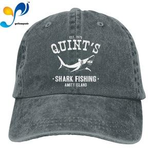 Fashion Hip hop Washed Baseball Cap Shark Fishing Jaws Wild Hat Adjustable Men And Women Outdoor Sun Hats Trucker Caps