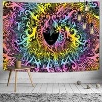simsant mandela wall hanging tapestry psychedelic pattern yoga throw carpet hippie home decor mandala wall tapestry blanket