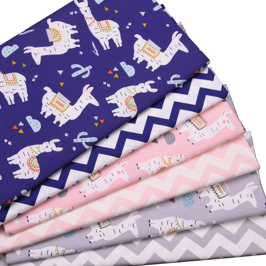 Syunss Cute alpaca Diy Patchwork Cloth For Quilting Baby Cribs Cushions Dress Sewing Tissus 100% Cotton Fabric Tecido Tissus