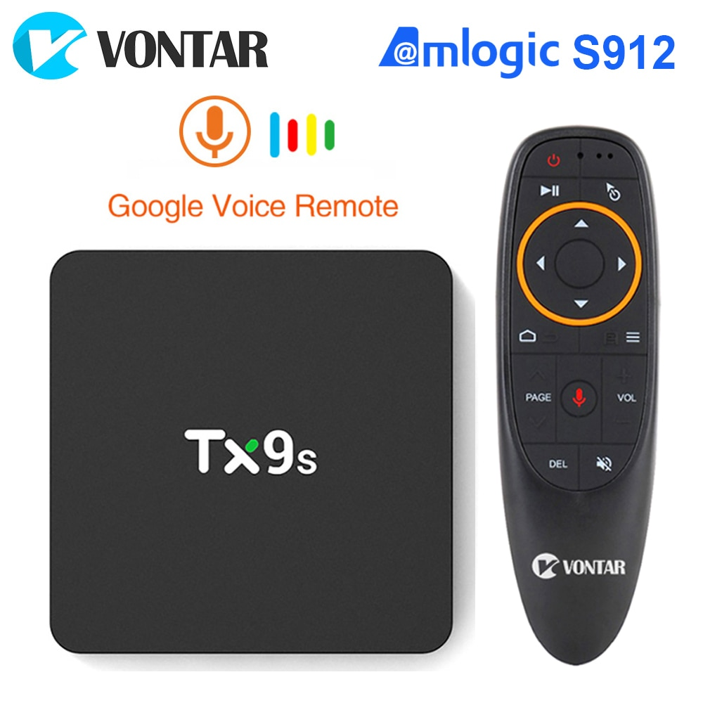 2020 TV Box Android Amlogic S912 Octa Core TX9S 2GB 8GB 1000M LAN 4K TVBOX Set Top Box 2.4G Wifi You
