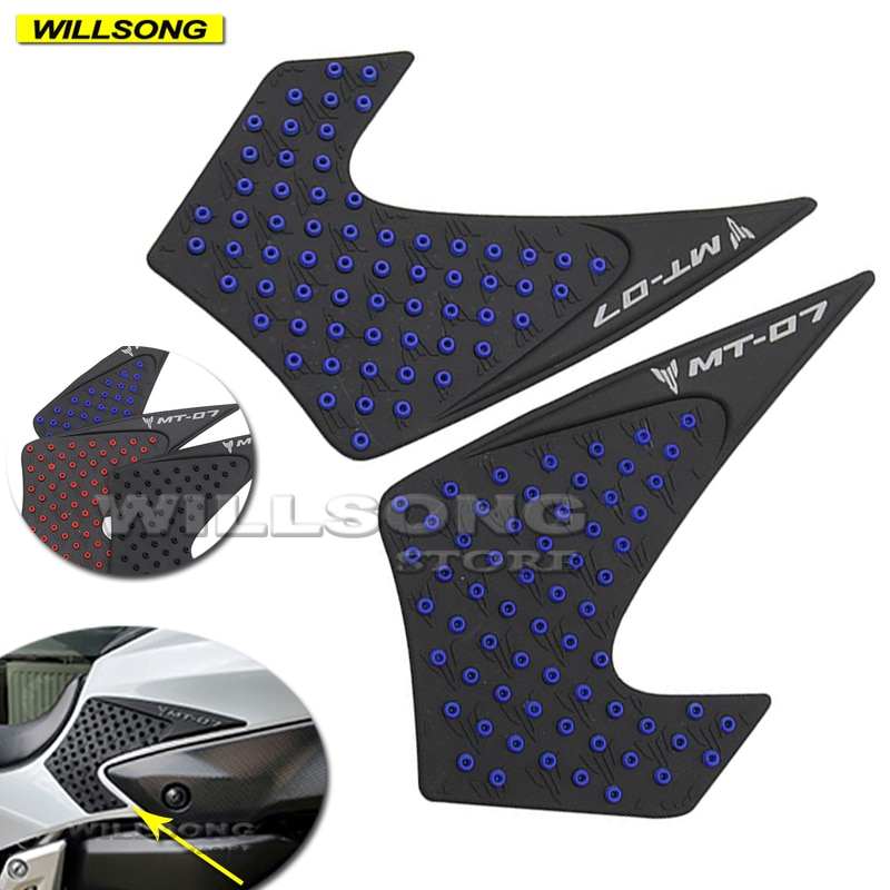 Silica Gel Anti Slip Sticker Tank Pad Side Knee Grip Protector For YAMAHA MT07 FZ07 2013-2017 Year Motorcycle Accessories