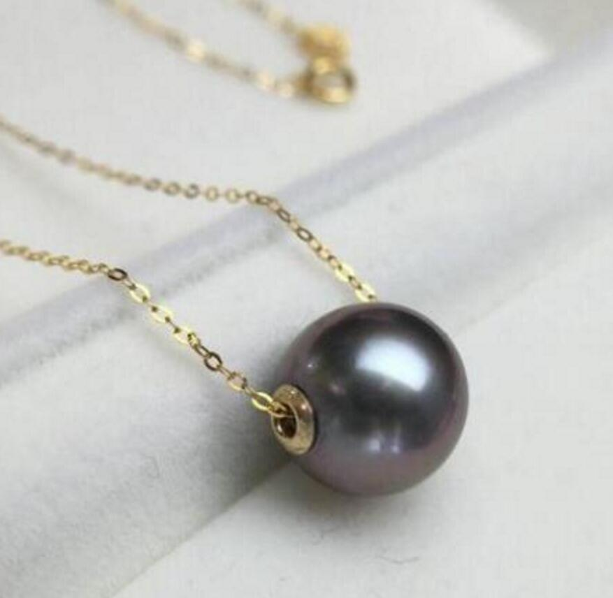 Collar con colgante de Perla Negra Tahití, envío gratis