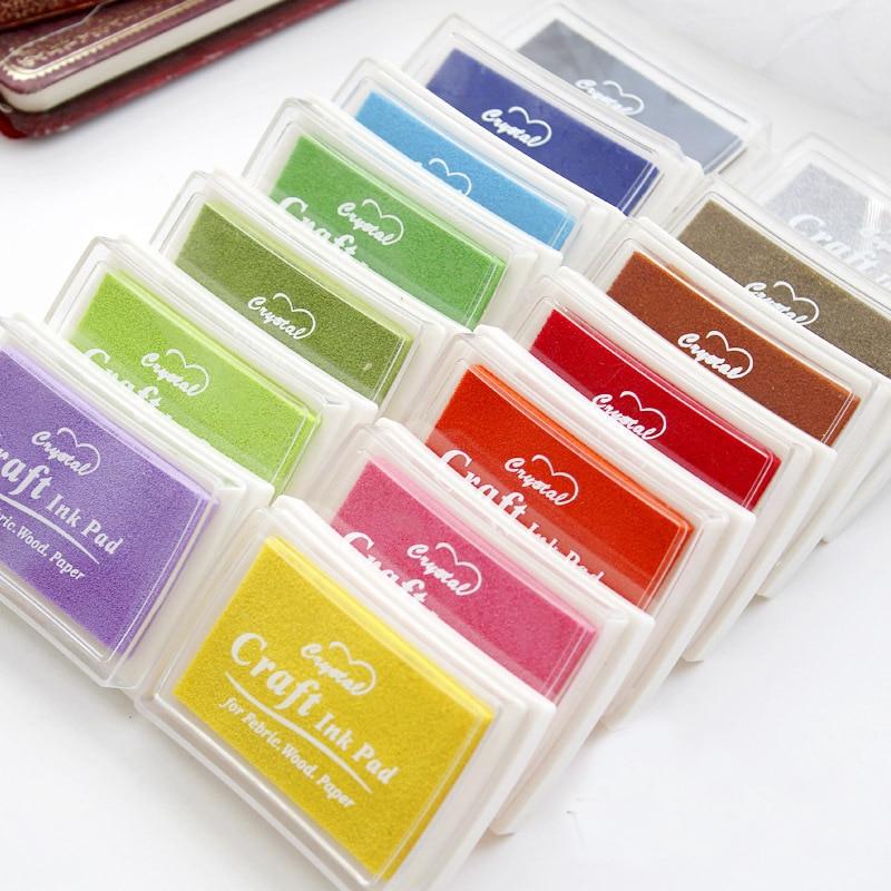15 cores inkpad artesanal diy artesanato à base de óleo tinta almofada de borracha selos tecido de madeira papel scrapbooking tinta almofada dedo pintura casamento