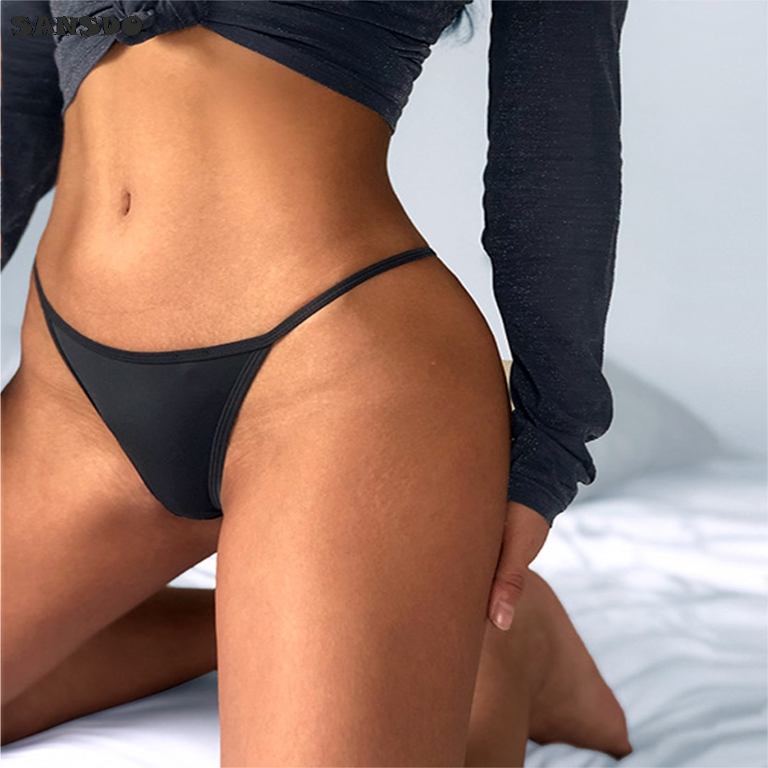 2021 European Luxury Floral Embroidered Sexy Panties Low Waist String Solid Temptation Thin Women Underwear Seamless Briefs floral embroidered high low blouse