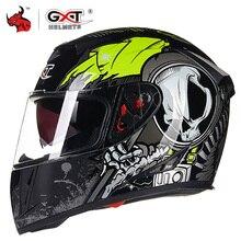 Gxt Helm Motorfiets Moto Helmen Dubbele Vizier Racing Motocross Helm Casco Modulaire Moto Helm Motor Capacete #