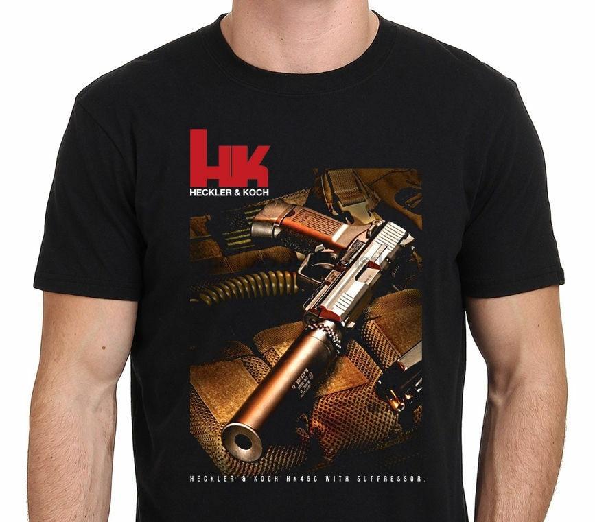 Nouveau T-Shirt pistolet HK Heckler et Koch HK45c taille-s à 5XL