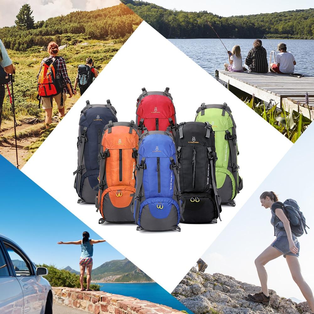Mochila de senderismo impermeable 60L bolsa de deporte Outdood mochila táctica militar senderismo montañismo bolsa de viaje mochila de escalada