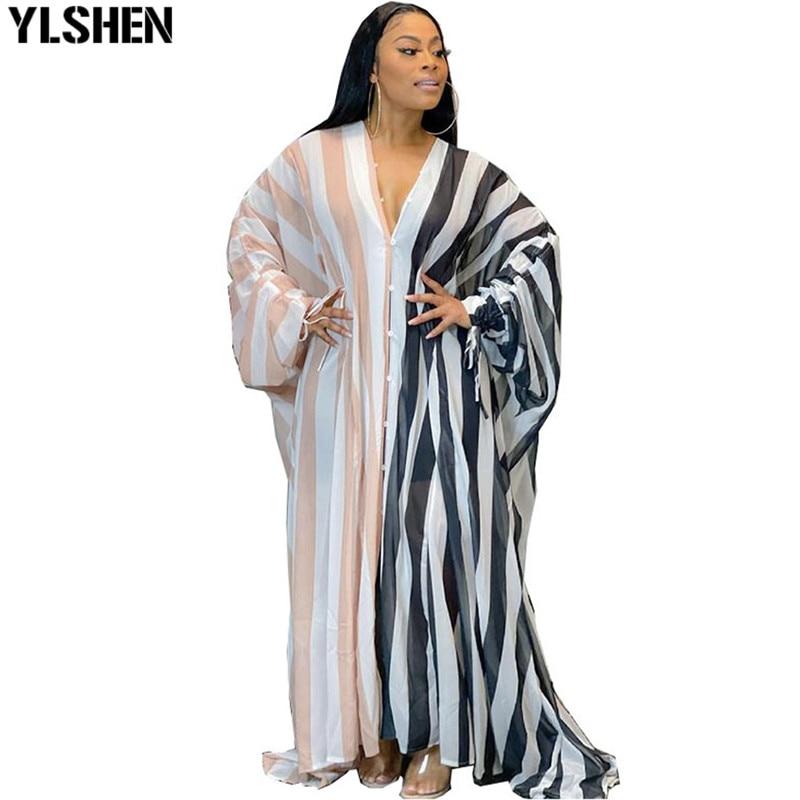 فساتين إفريقية للنساء 2021 ملابس أفريقية جديدة Dashiki Grand مفتوحة بوبو رداء أفريقي بازان ريتشي فستان أفريقي للحفلات