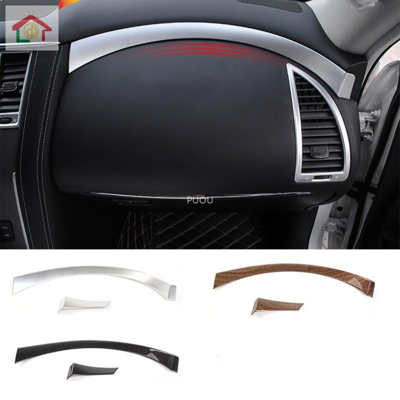 For Nissan Patrol 2017 2018 2019 2020 Car Glove Co-Driver Container Switch Storage Case Box Panel Hoods Moulding Leap Parts 2pcs