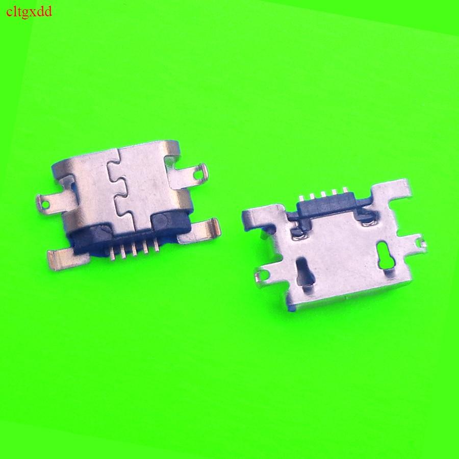 100 unids/lote Mini conector de Puerto de carga Micro USB enchufe de toma de corriente para Amazon Fire HD8 7th Gen SX034QT