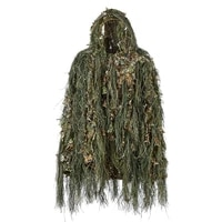 ghillie suit hunting woodland 3d bionic leaf disguise uniform cs camouflage suits set sniper jungle train hunting cloth
