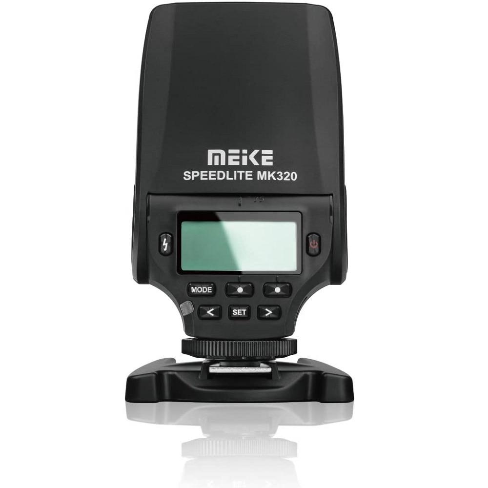 Meike MK-320 TTL فلاش صغير speedlite لكانون نيكون أوليمبوس باناسونيك فوجي فيلم سوني A5100 A6000 A6300 A7 NEX-5 NEX-6