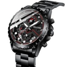 Fashion New 2021 Mens Watches BELUSHI Luxury Chronograph Full Steel Waterproof Quartz Watch Men Date