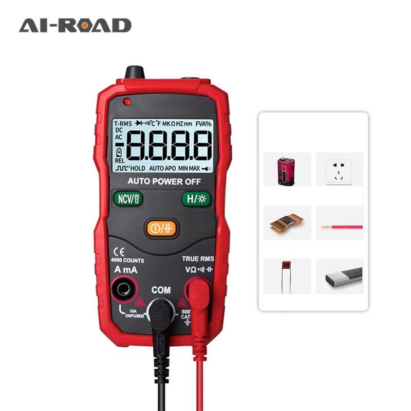 Multímetro Digital S1 True-RMS, probador de transistores, medidor de capacitancia eléctrica automotriz, diodo de temperatura