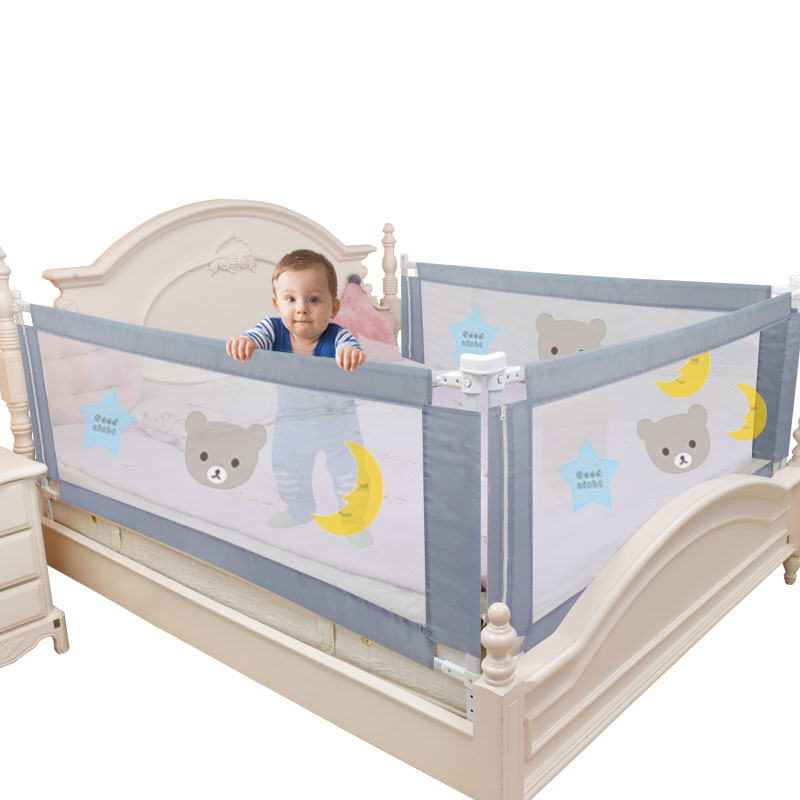 AliExpress - Children's bed barrier fence safety guardrail security foldable baby home playpen on bed fencing gate crib adjustable kids rails