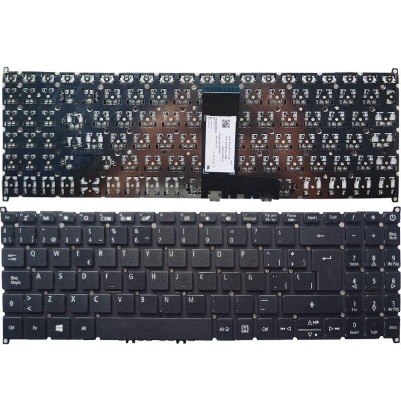 كمبيوتر محمول جديد لوحة المفاتيح الإسبانية لشركة أيسر سويفت 3 SF315-51 SF315-51G N17P4 لا الإطار الأسود لا الخلفية SP تخطيط